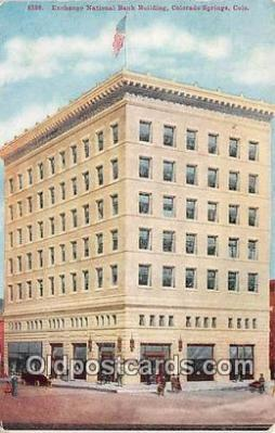 bnk001164 - Exchange National Bank Building Colorado Springs, Colorado, USA Postcard Post Card