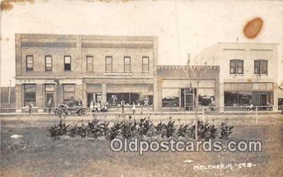 bnk001169 - Real Photo  Melcher, Iowa, USA Postcard Post Card