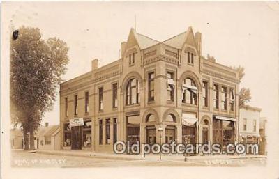 bnk001178 - Real Photo Bank of Kigsley Kingsley, Iowa, USA Postcard Post Card