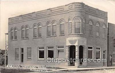 bnk001179 - Real Photo Farmers Savings Bank Clermont, Iowa, USA Postcard Post Card