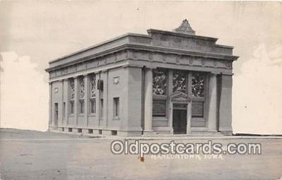 bnk001186 - Real Photo Citizens Savings Bank Hanlontown, Iowa, USA Postcard Post Card