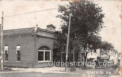 bnk001188 - Real Photo State Bank of Laurens Gladbrook, Iowa, USA Postcard Post Card