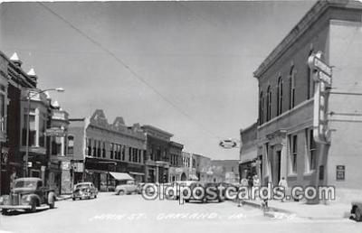 bnk001189 - Real Photo Main Street Oakland, Iowa, USA Postcard Post Card