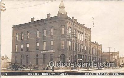 bnk001190 - Real Photo Union County Bank Rock Rapid, Iowa, USA Postcard Post Card