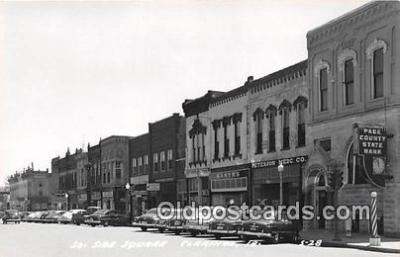 bnk001191 - Real Photo South Side Square Clarinda, Iowa, USA Postcard Post Card