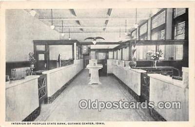 bnk001194 - Interior, Peoples State Bank Guthrie Center, Iowa, USA Postcard Post Card