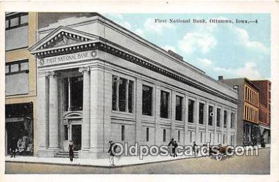bnk001195 - First National Bank Ottumwa, Iowa, USA Postcard Post Card