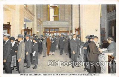 bnk001201 - Savings Department, Hibernia Bank & Trust Company New Orleans, USA Postcard Post Card