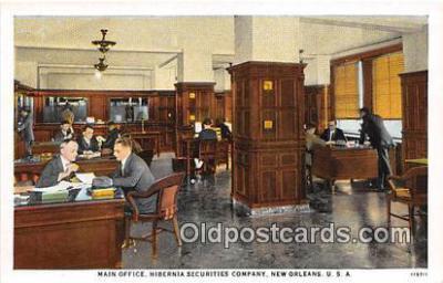 bnk001204 - Main Office, Hibernia Securities Company New Orleans, USA Postcard Post Card