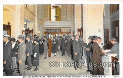 bnk001205 - Savings Department, Hibernia Bank & Trust Company New Orleans, USA Postcard Post Card