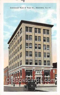 bnk001208 - Commercial Bank & Trust Co Alexandria, LA, USA Postcard Post Card