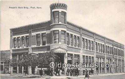 bnk001213 - Peoples Bank Building Pratt, Kansas, USA Postcard Post Card