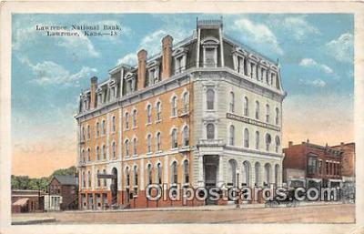 bnk001215 - Lawrence National Bank Lawrence, Kansas, USA Postcard Post Card
