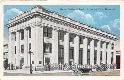 bnk001216 - Home National Bank Arkansas City, Kansas, USA Postcard Post Card