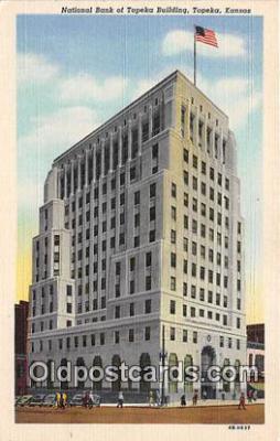 bnk001226 - National Bank of Topeka Building Topeka, Kansas, USA Postcard Post Card