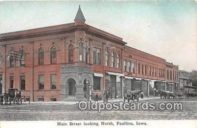 bnk001241 - Main Street Paullina, Iowa, USA Postcard Post Card