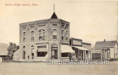 bnk001242 - Aurora Bank Aurora, Iowa, USA Postcard Post Card