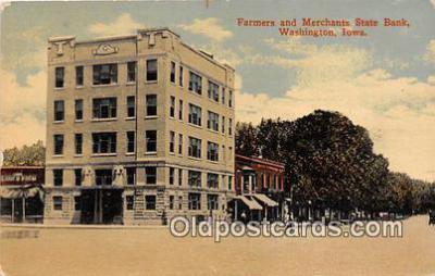 bnk001247 - Farmers & Merchants State Bank Washington, Iowa, USA Postcard Post Card