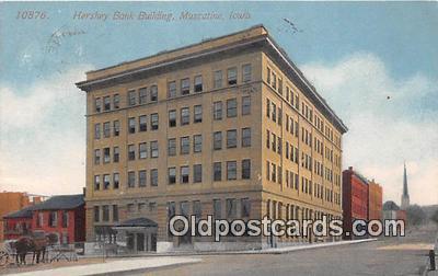 bnk001248 - Hershey Bank Building Muscatine, Iowa, USA Postcard Post Card