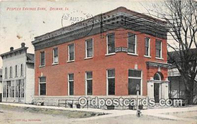 bnk001262 - Peoples Savings Bank Delmar, Iowa, USA Postcard Post Card