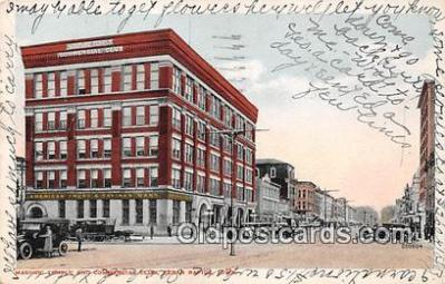 bnk001266 - Masonic Temple & Commercial Club Cedar Rapids, Iowa, USA Postcard Post Card