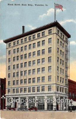 bnk001273 - Black Hawk Bank Building Waterloo, Iowa, USA Postcard Post Card