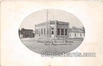 bnk001276 - Providence State Bank New Providence, Iowa, USA Postcard Post Card