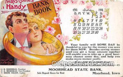 bnk001278 - Moorhead State Bank Moorhead, Iowa, USA Postcard Post Card