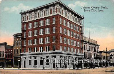 bnk001280 - Johnson County Bank Iowa City, Iowa, USA Postcard Post Card