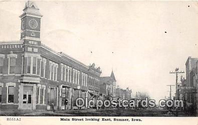 bnk001287 - Main Street Sumner, Iowa, USA Postcard Post Card