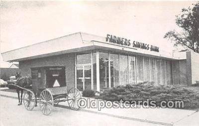 bnk001292 - Farmers Savings Bank Kalona, Iowa, USA Postcard Post Card