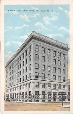 bnk001297 - First National Bank Building Fort Dodge, Iowa, USA Postcard Post Card