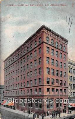 bnk001299 - Citizens National Bank Building Des Moines, Iowa, USA Postcard Post Card