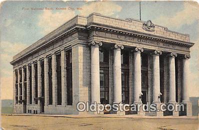 bnk001301 - First National Bank Kansas City, MO, USA Postcard Post Card