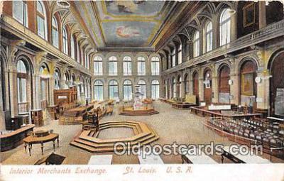 bnk001305 - Interior Merchants Exchange St Louis, USA Postcard Post Card