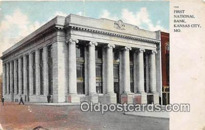 bnk001306 - First National Bank Kansas City, MO, USA Postcard Post Card