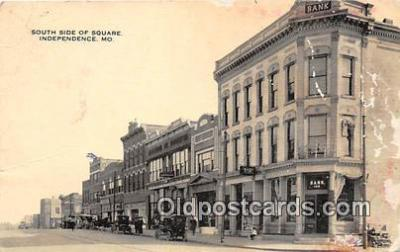 bnk001308 - South Side of Square Independence, MO, USA Postcard Post Card