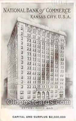 bnk001323 - National Bank of Commerce Kansas City, MO, USA Postcard Post Card