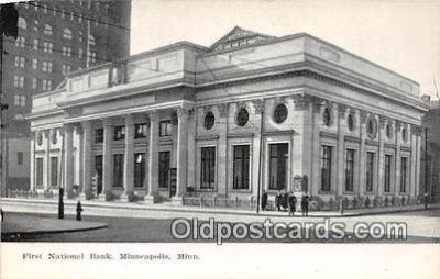 bnk001325 - First National Bank Minneapolis, Minn, USA Postcard Post Card