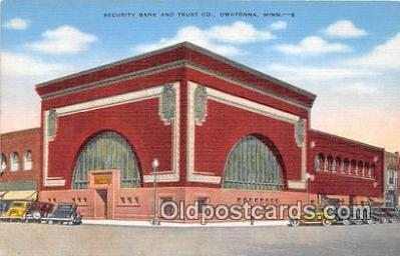 bnk001329 - Security Bank & Trust Co Owatonna, Minn, USA Postcard Post Card