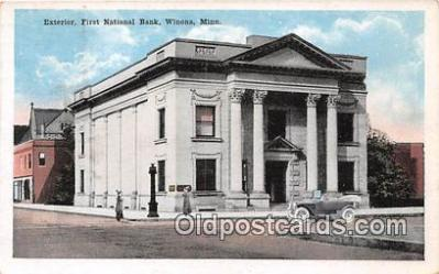 bnk001332 - Exterior, First National Bank Winona, Minn, USA Postcard Post Card