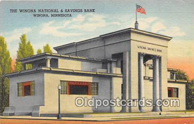 bnk001336 - Winona National Savings Bank Winona, Minn, USA Postcard Post Card