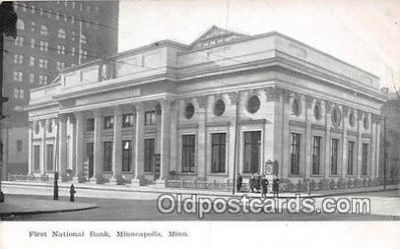 bnk001339 - First National Bank Minneapolis, Minn, USA Postcard Post Card
