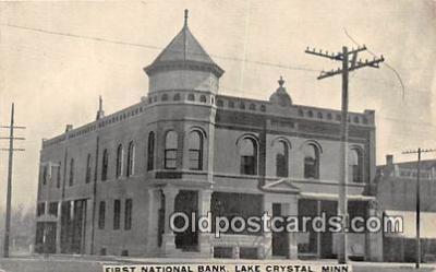 bnk001341 - First National Bank Lake Crystal, Minn, USA Postcard Post Card