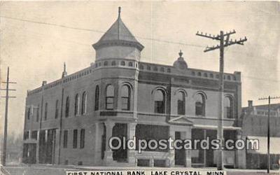 bnk001342 - First National Bank Lake Crystal, Minn, USA Postcard Post Card