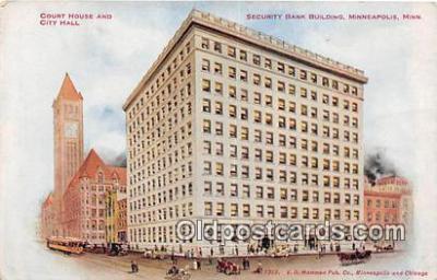 bnk001343 - Security Bank Building Minneapolis, Minn, USA Postcard Post Card