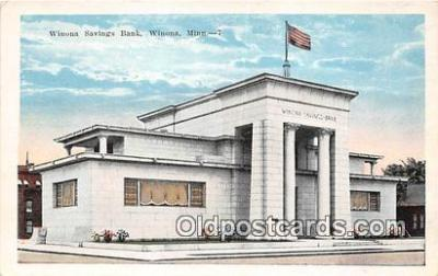bnk001346 - Winona Savings Bank Winona, Minn, USA Postcard Post Card
