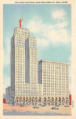 bnk001347 - First National Bank Building St Paul, Minn, USA Postcard Post Card