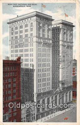 bnk001348 - New First National Soo Building Minneapolis, Minn, USA Postcard Post Card