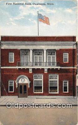 bnk001349 - First National Bank Owatonna, Minn, USA Postcard Post Card